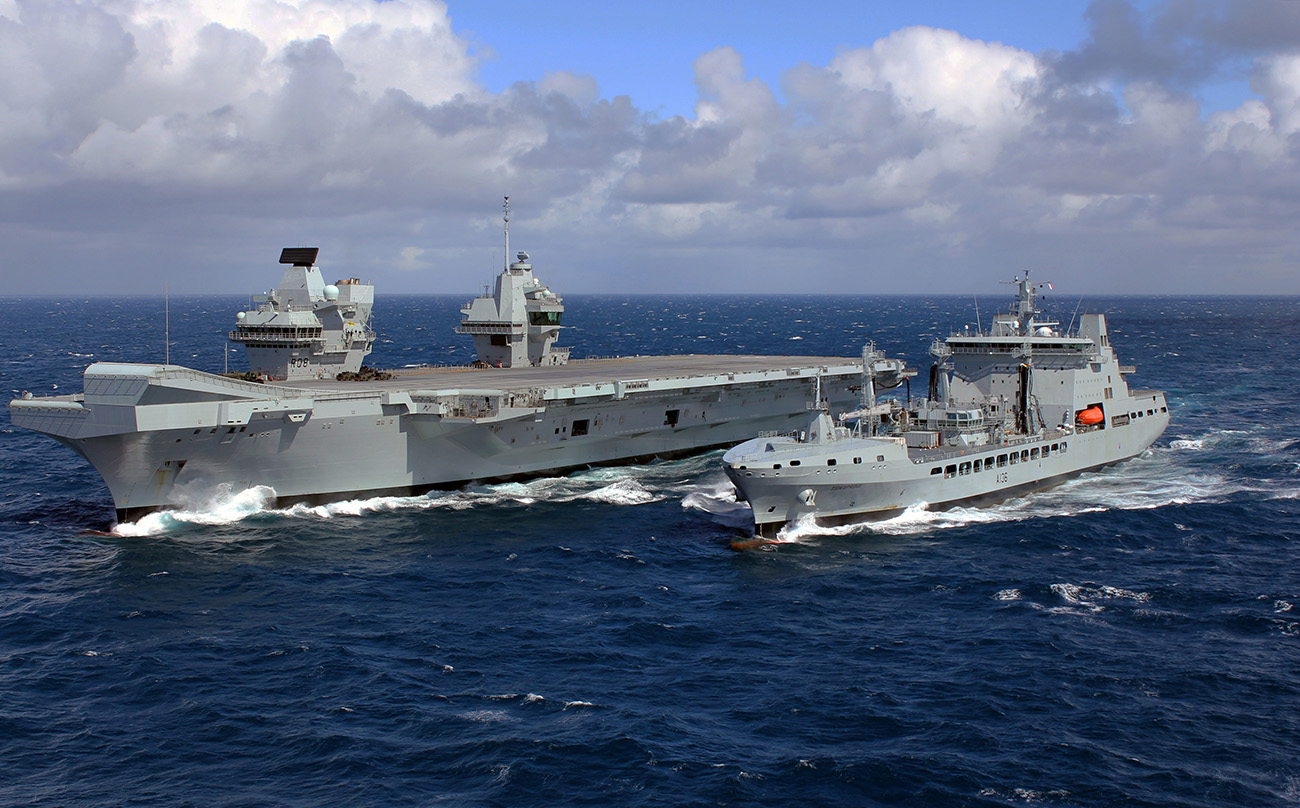 UK's new carrier 'ready to raom' after filling up on the go for the first time