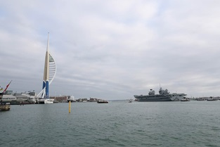 HMS Queen Elizabeth, departs her home port of Portsmouth today, bound for the USA to land fast jets on deck for the very first time.