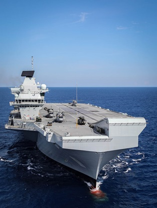 HMS Queen Elizabeth is in the USA to conduct trials with test F-35B Lightning II jets from the Integrated Test Force, based out of Naval Air Station Patuxent River, Maryland.