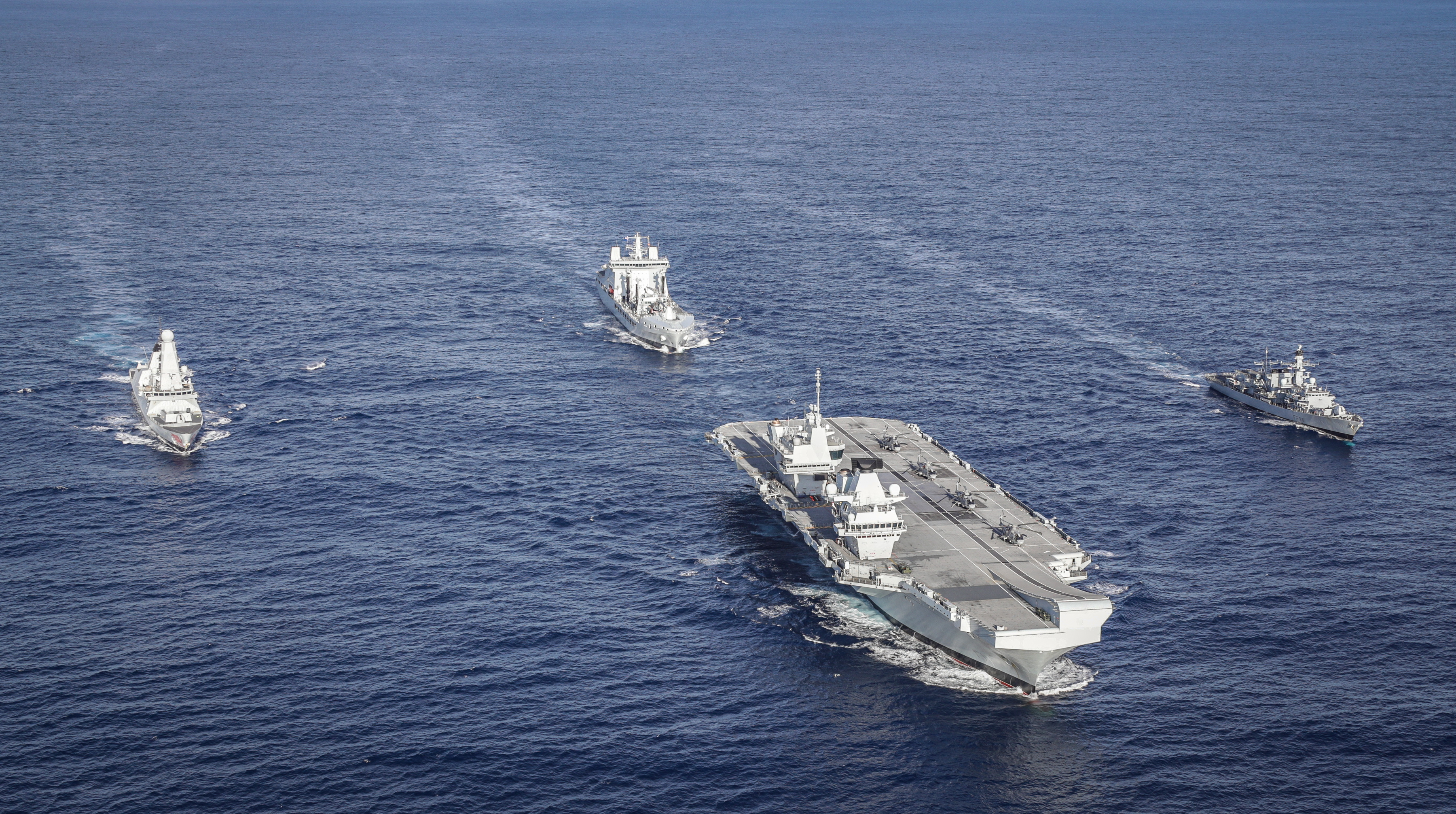 Westlant Carrier Strike Group off the coast of the United States. Picture: LPhot Kyle Heller