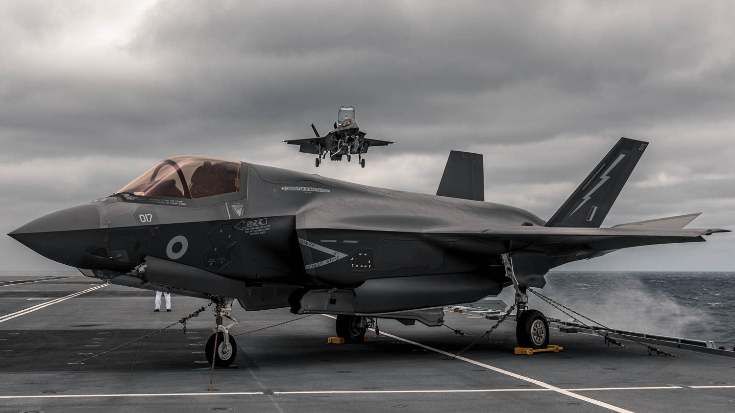 Royal Navy • F-35 Deck Operations • Aboard HMS Queen Elizabeth • 25 Sep 2020