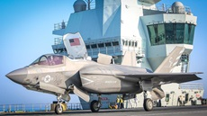 HMS Queen Elizabeth has welcomed UK and US F-35B jets for a major exercise