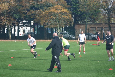 Personnel from HMS Queen Elizabeth played rugby
