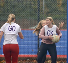 Personnel from HMS Queen Elizabeth played netball