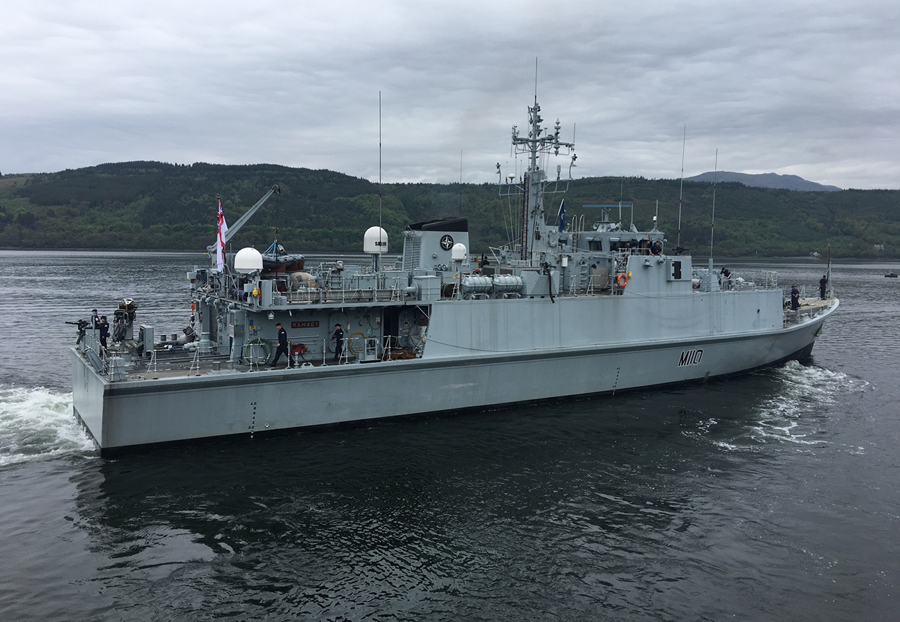 HMS Ramsey sails to join NATO Taskforce