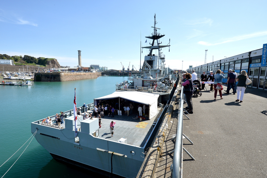 Royal Navy at Jersey Boat Show