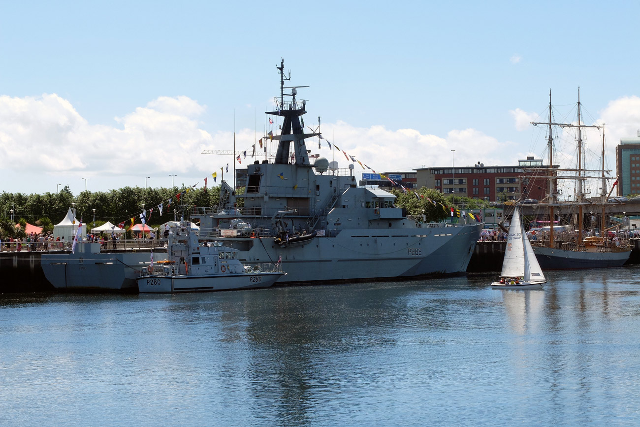 HMS Severn takes part in the Belfast Titanic Maritime Festival