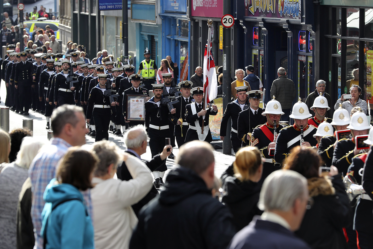 HMS Severn celebrates affiliation with final parade