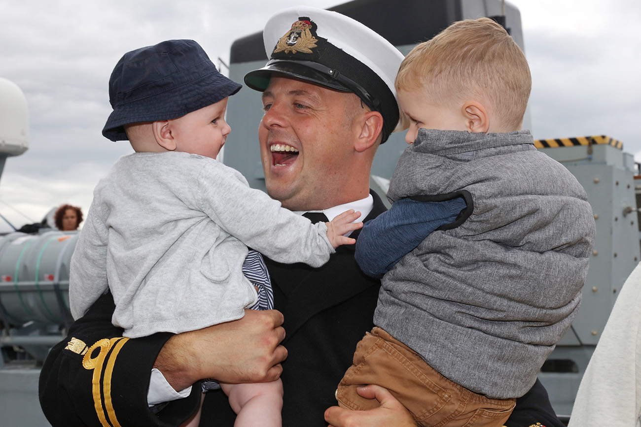 HMS Shoreham returns home after NATO deployment