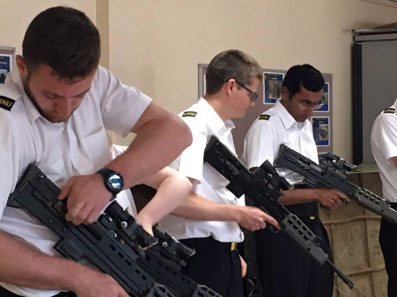 Rifle training for the Oxford URNU