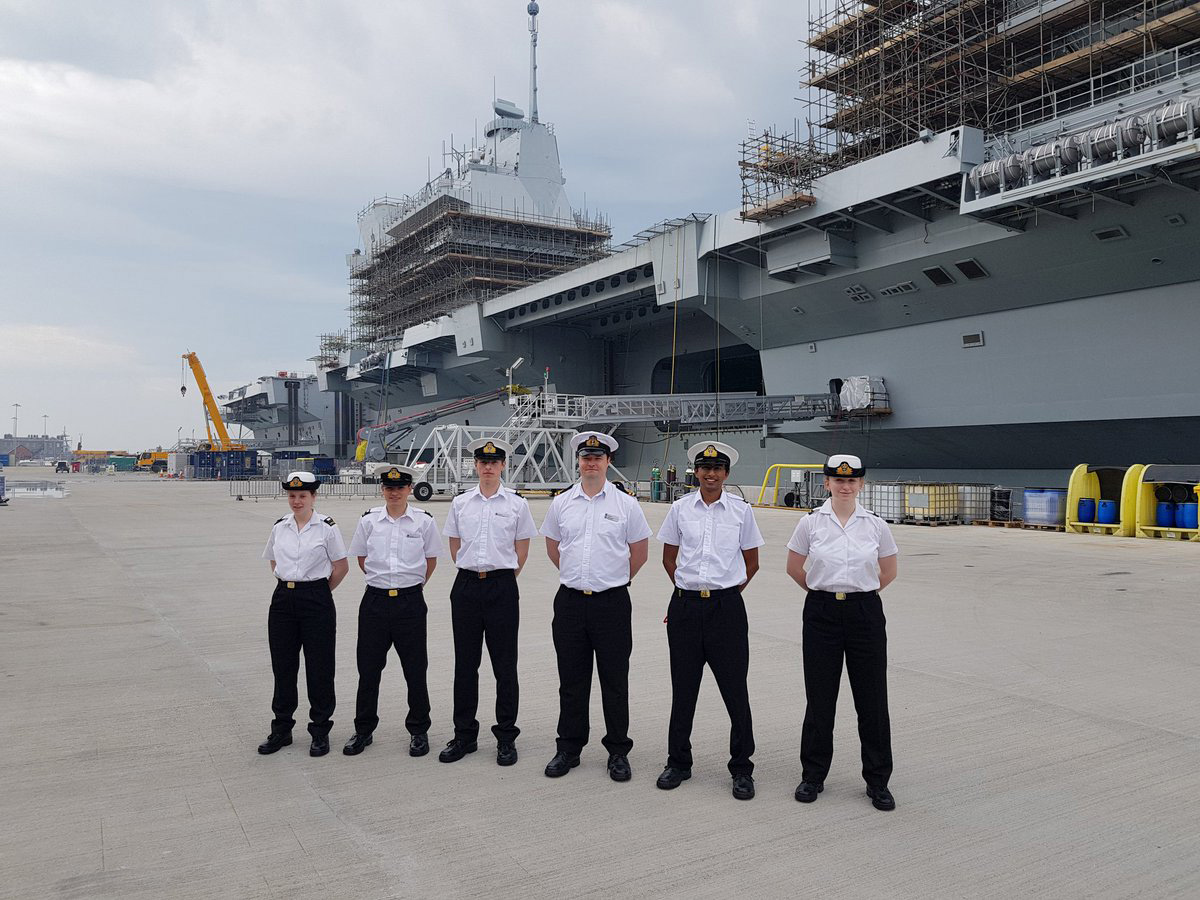 Oxford URNU visits HMS Queen Elizabeth