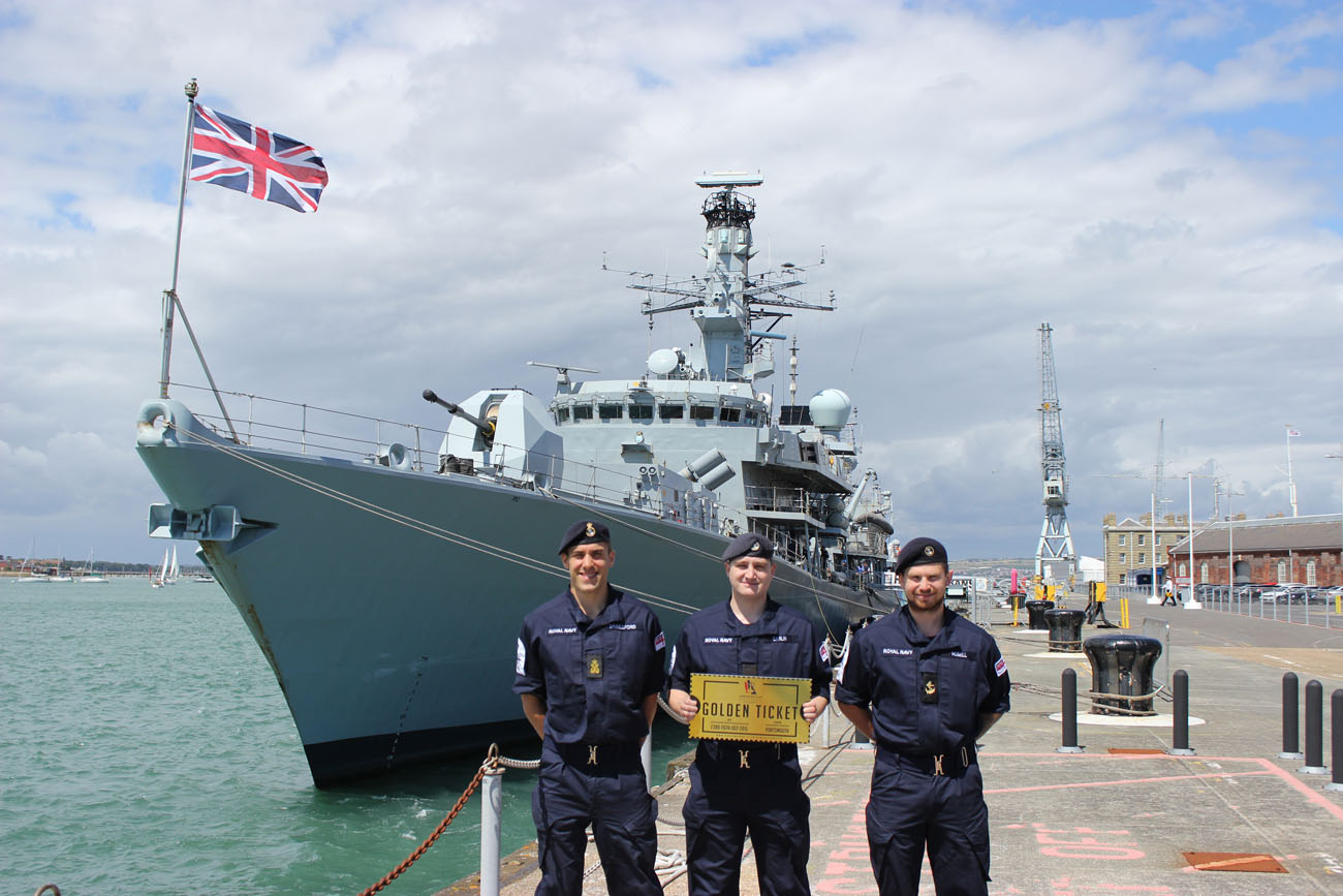 Hms St Albans Golden Ticket To America S Cup Racing Royal Navy