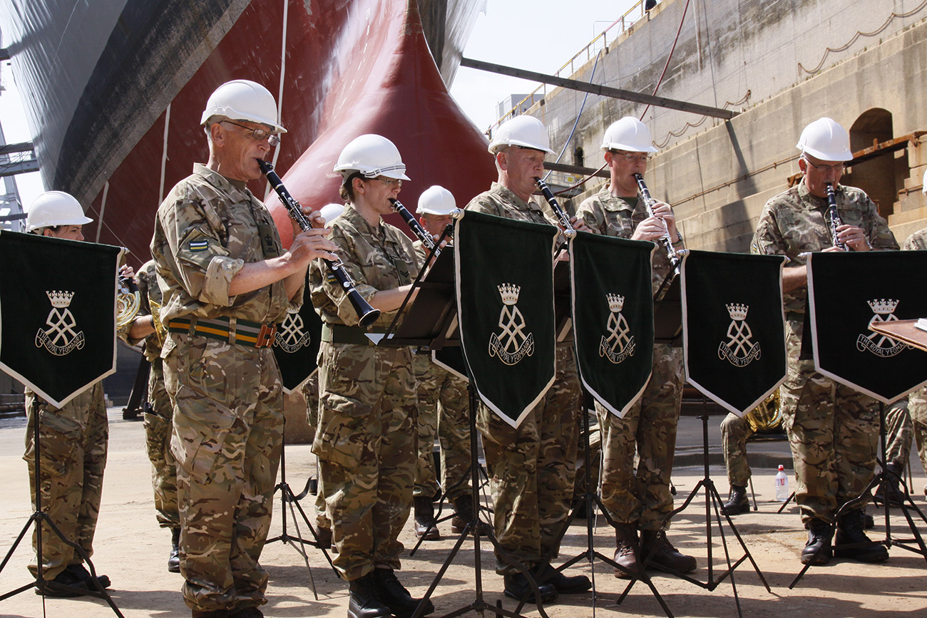 British Army band rock around the dock