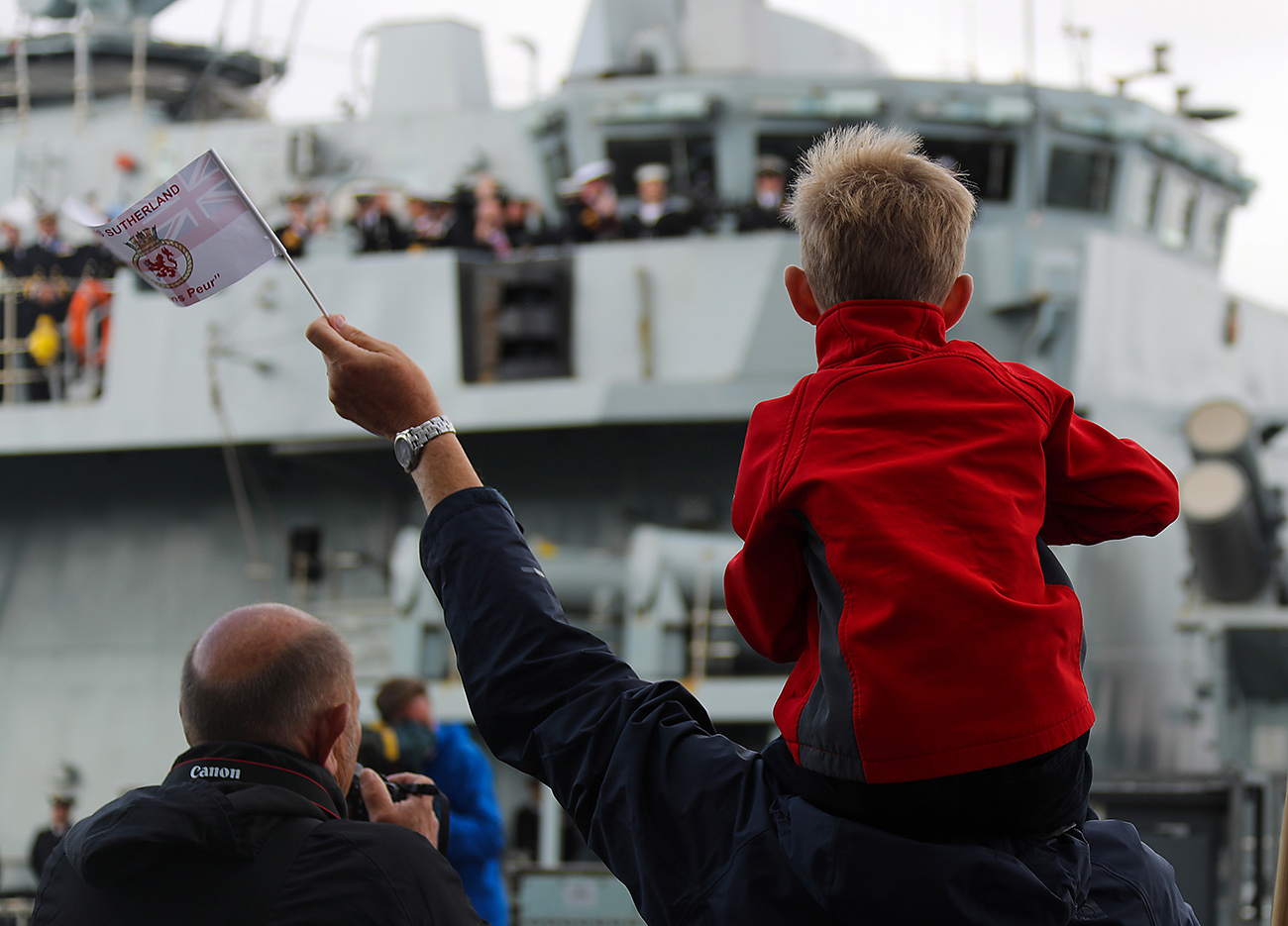 HMS Sutherland homecoming