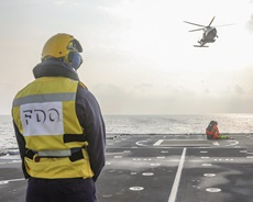 HMS Trent takes part in a search and rescue exercise with Cypriot forces. Picture: LPhot Luke