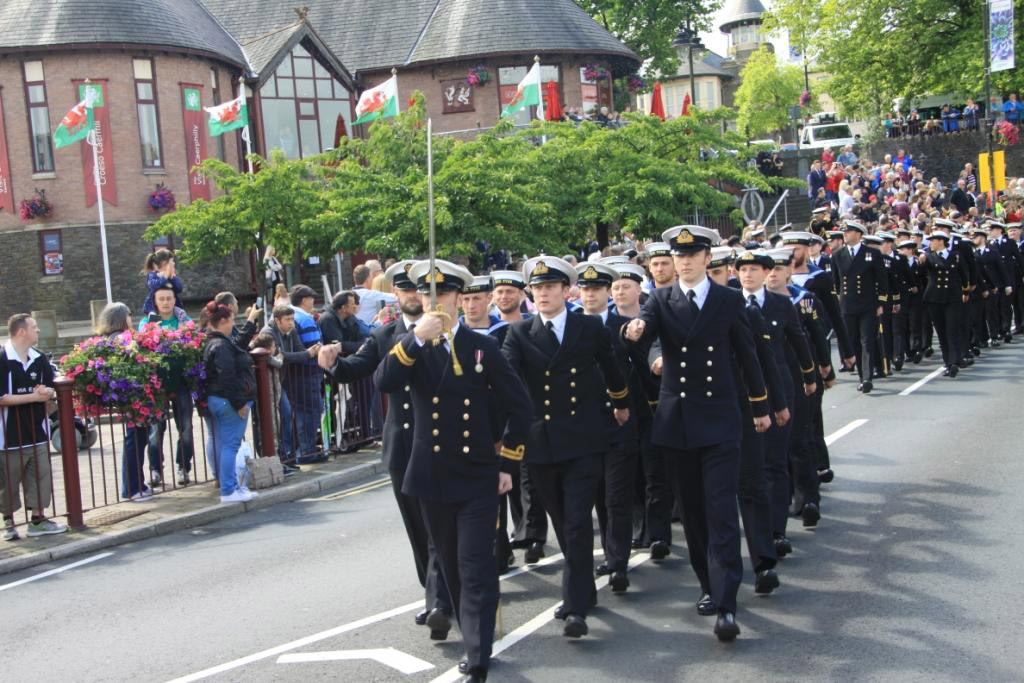 HMS Tyne attends Armed Forces Day in Cardiff
