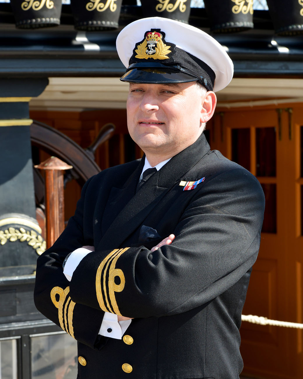 Lieutenant Commander B J Smith, Commanding Officer Of HMS Victory.