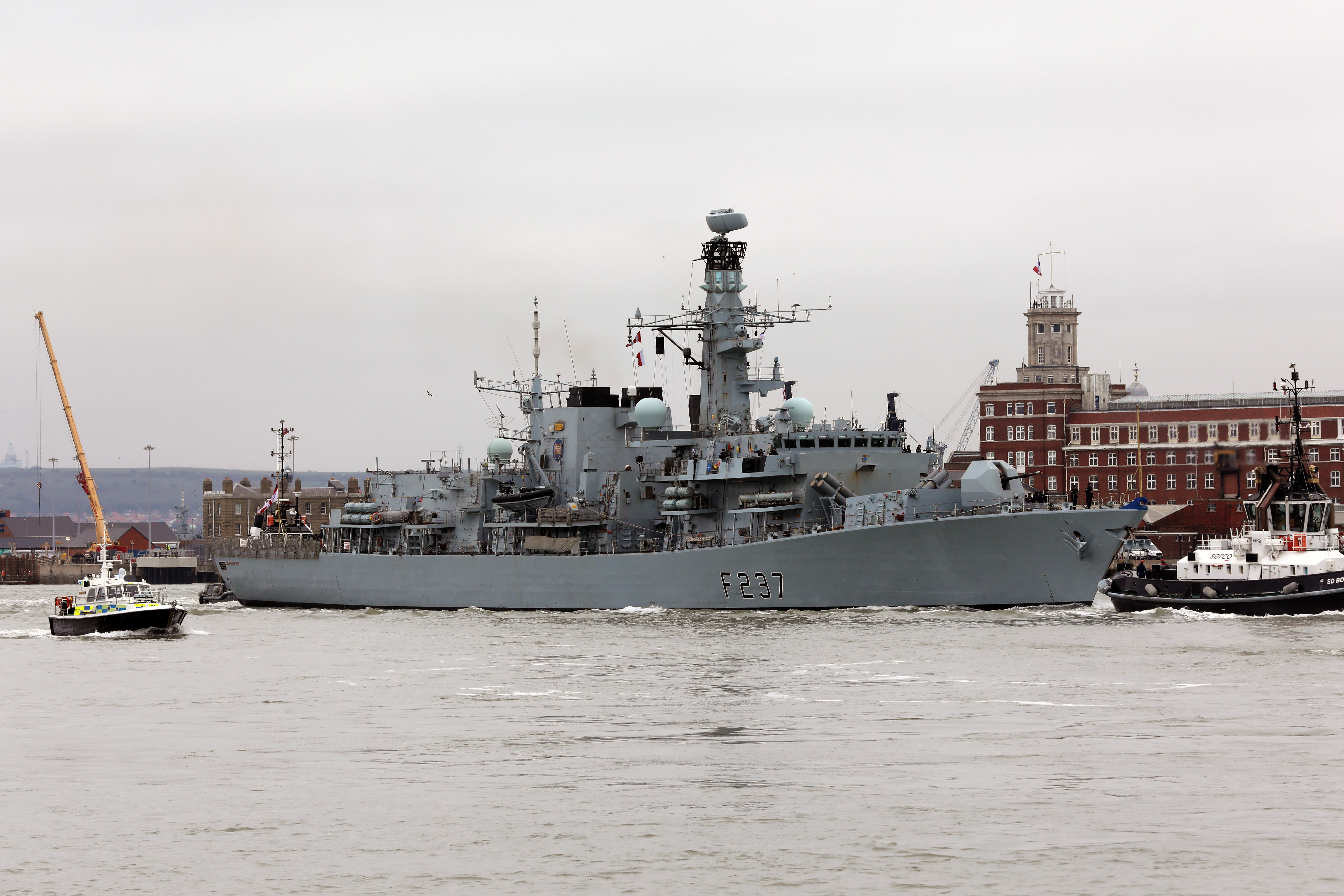 HMS Westminster sails from Portsmouth. Picture: PO Phot Dave Jenkins