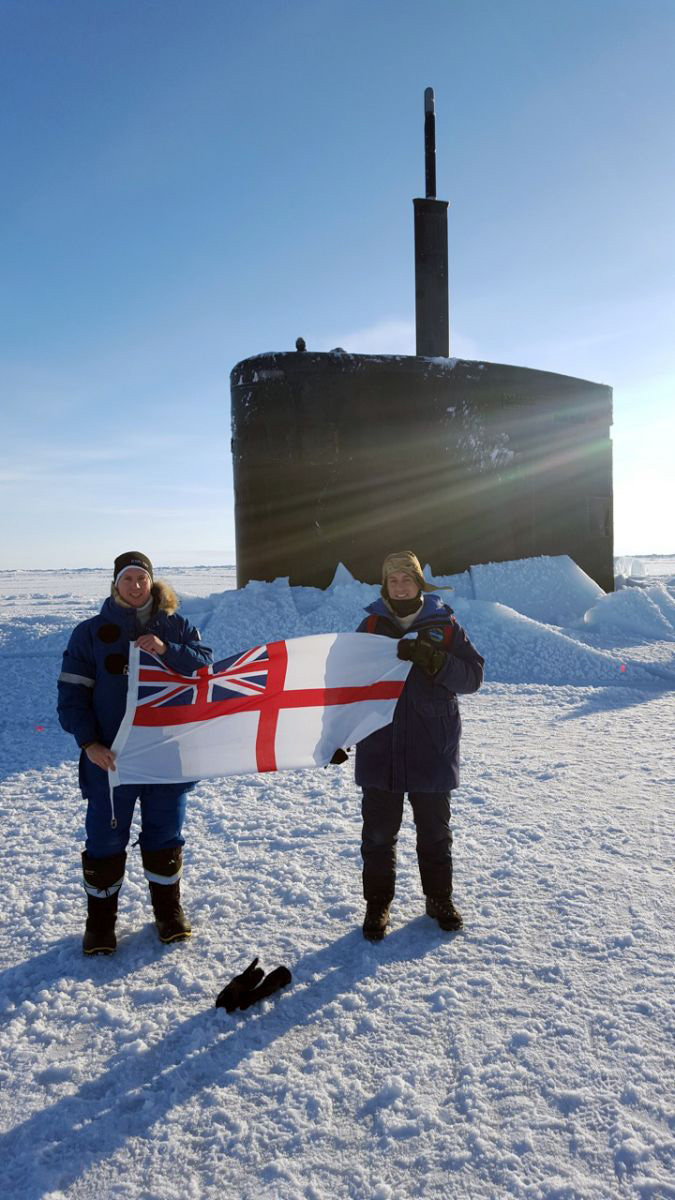 Submariners get stuck into Arctic role at Alaskan ice camp