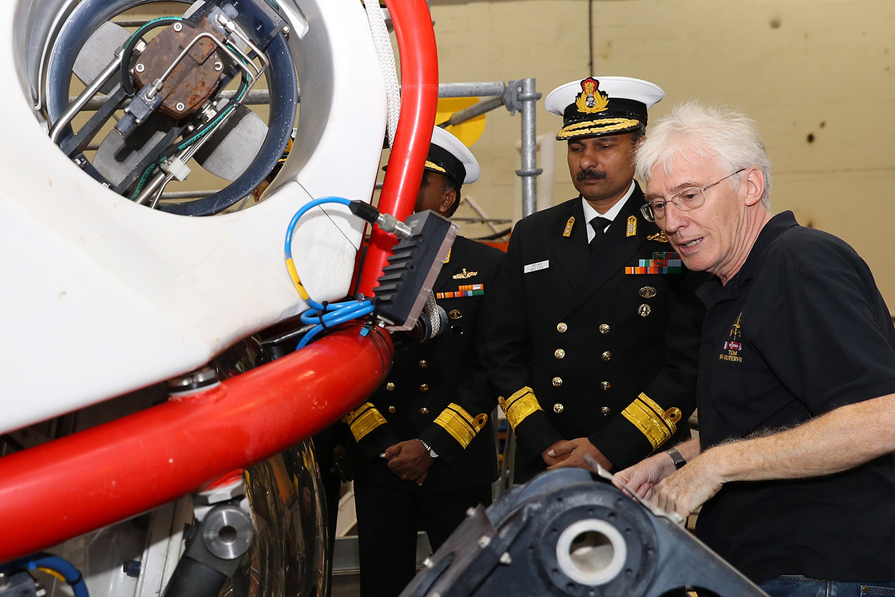 Indian Navy visit Submarine Rescue System
