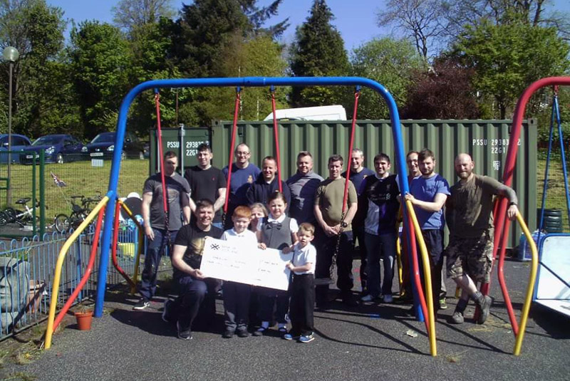 Victorious' crew bring a little joy and colour to Helensburgh school