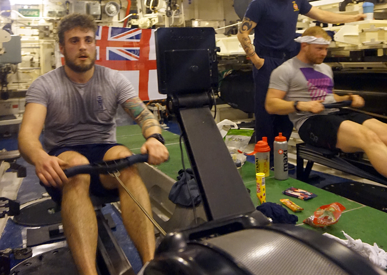 HMS Victorious crew row for charity