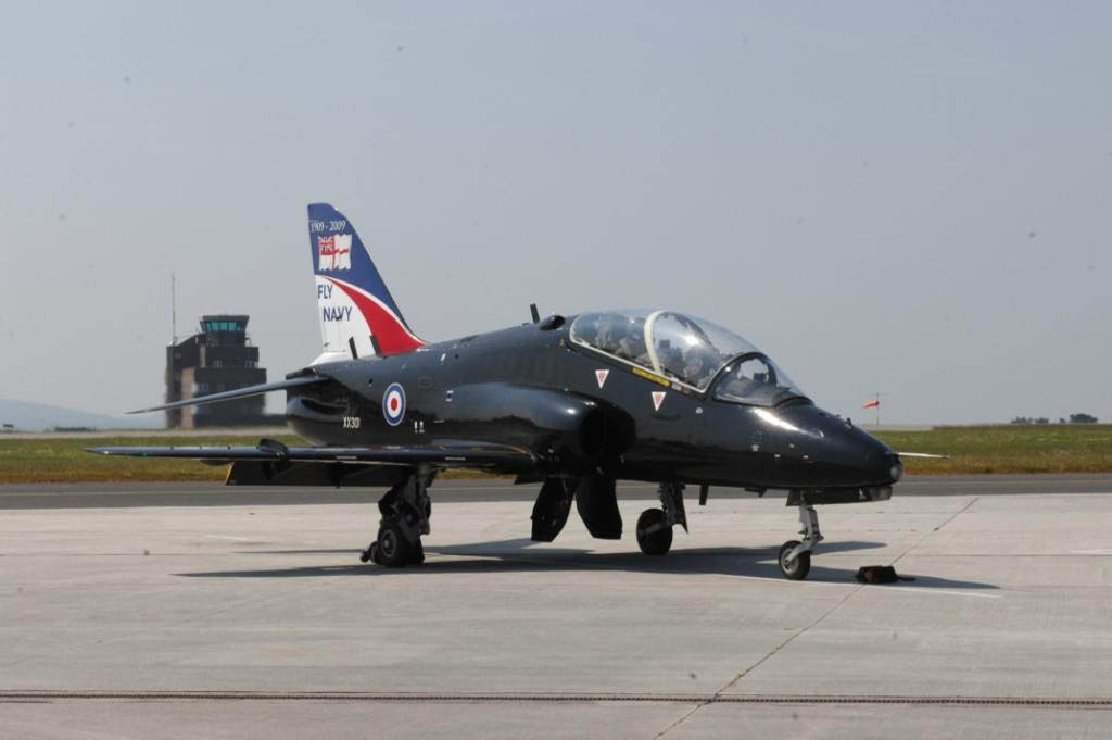 British Aerospace Hawk T1 Jet of 736 NAS at RNAS Culdrose