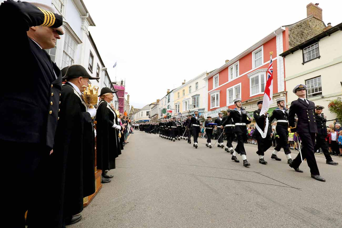 Helston turns out for freedom parade