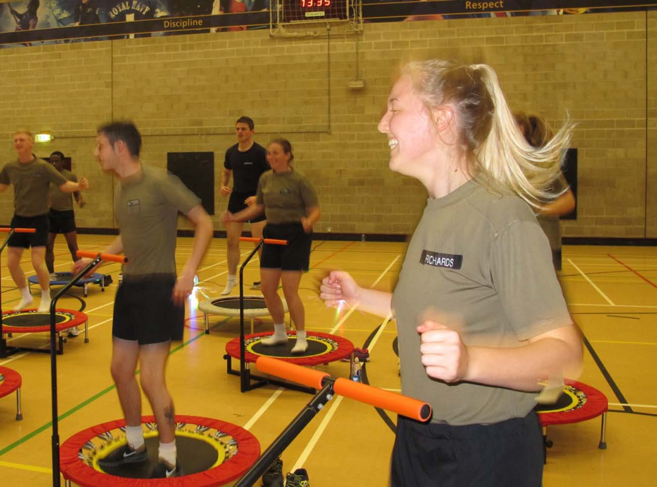 Boogie Bounce Hits Culdrose Gym Royal Navy