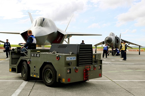Replica training jets ensure aircraft carrier ready for safe aviation