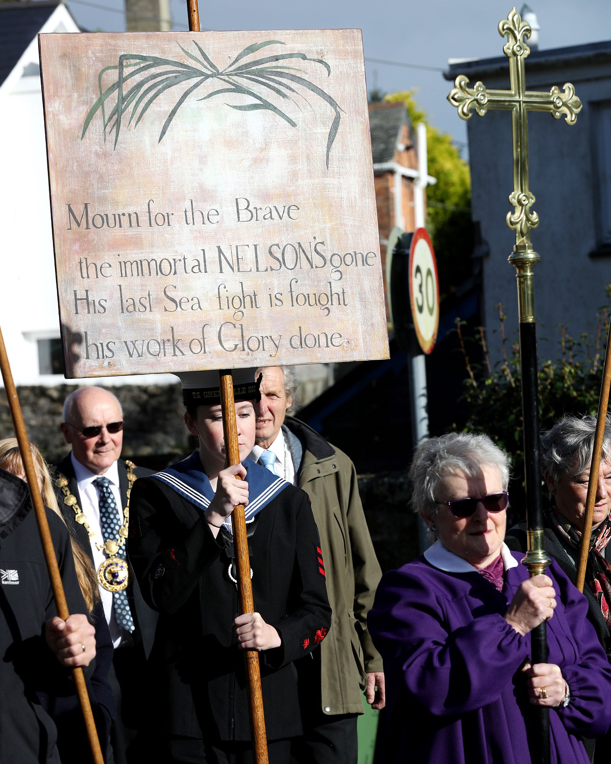 Culdrose remembers Nelson at Madron parade