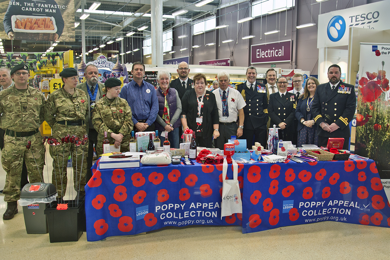 Heroes and villains launch Helston Poppy Appeal