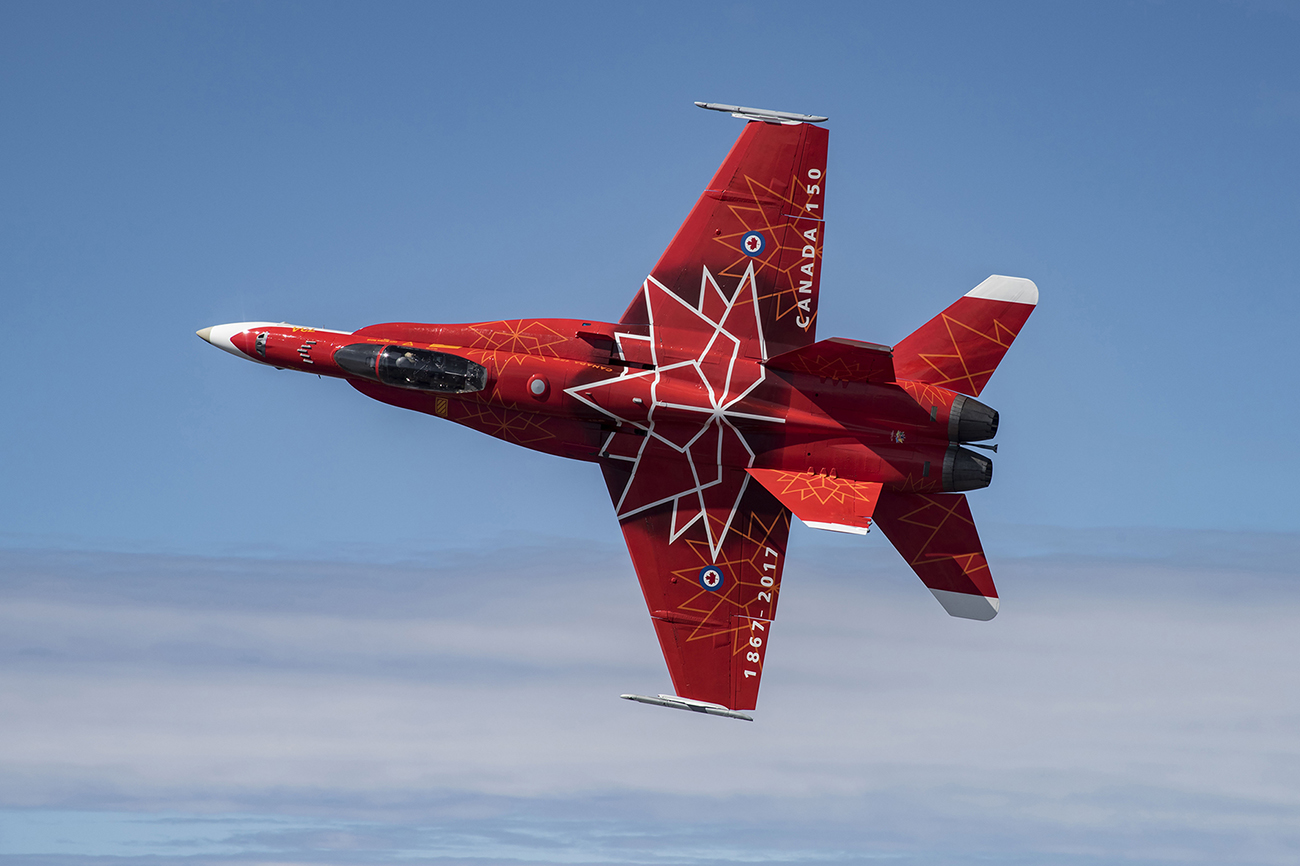 Royal Canadian Air Force Hornet Demo Team to fly at Air Day