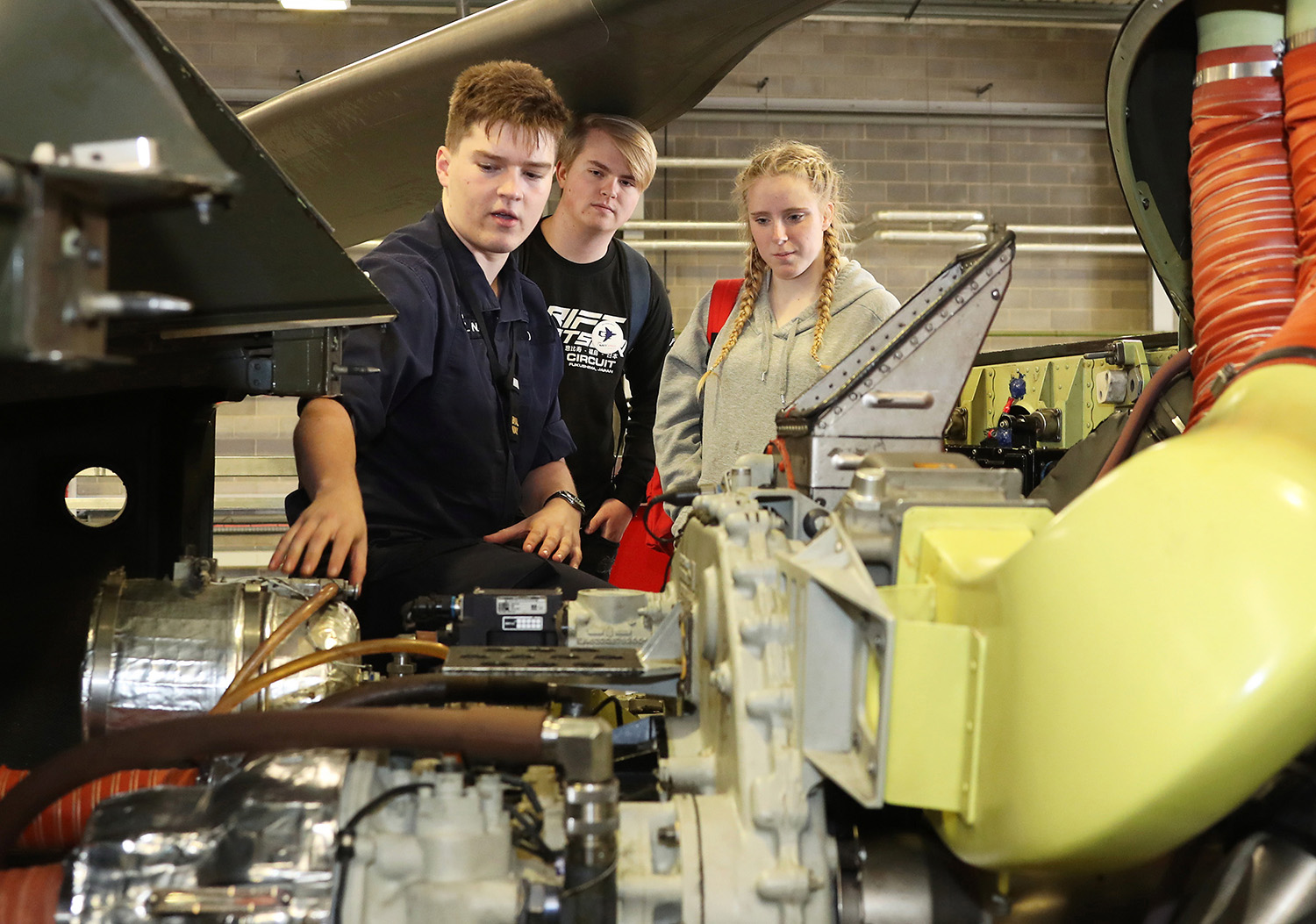 omerset engineering students attend STEM event at Yeovilton
