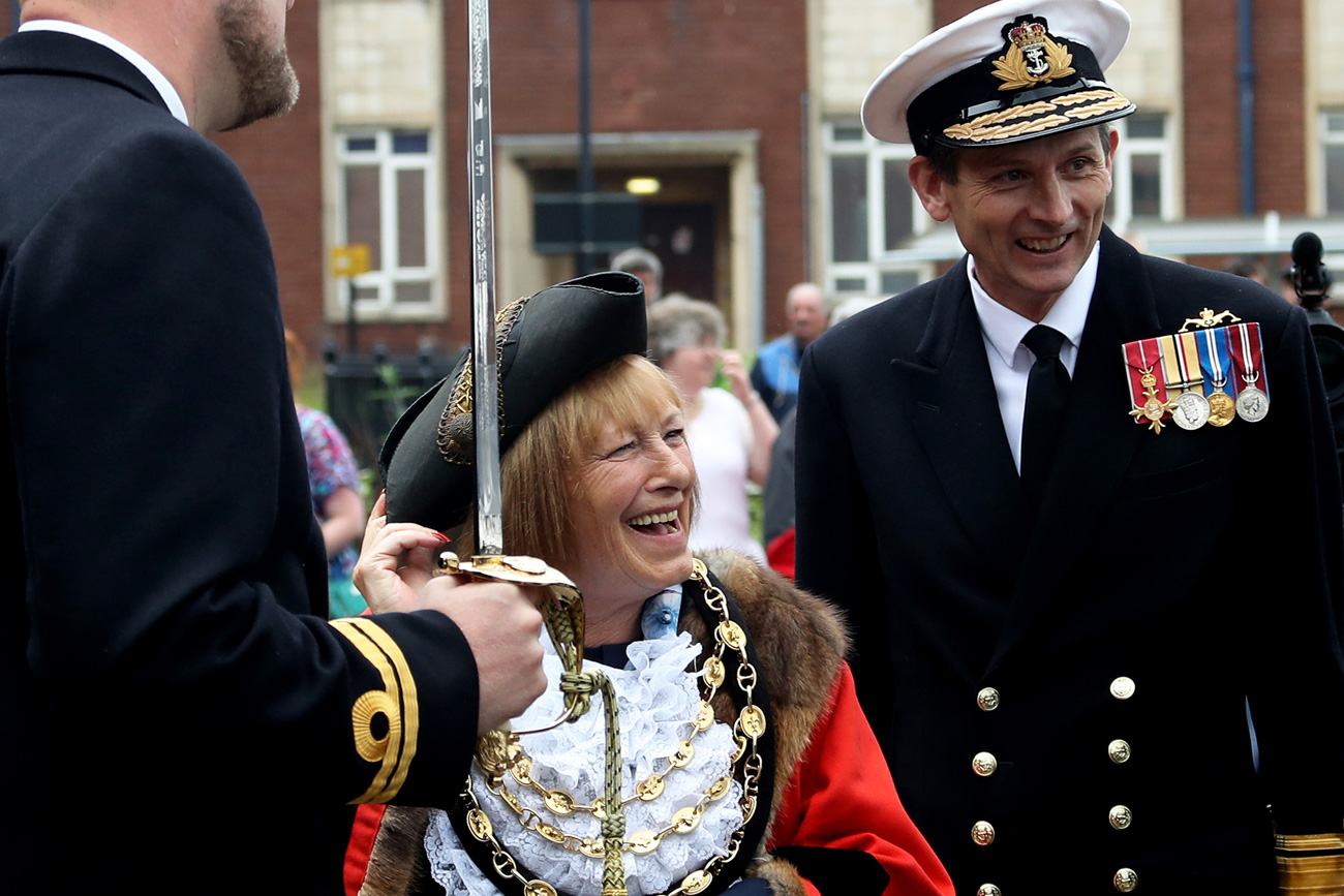 Submariners exercise the Freedom of the Borough of Barrow
