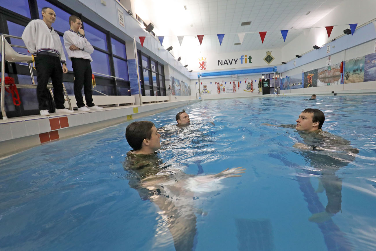 Clyde sports facilities are ship shape royal navy - Swimming pool maintenance training ...