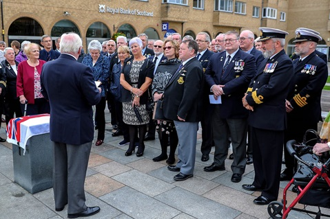Retired Commander Bob Seaward, OBE talks about the latest exhibit in the Helensburgh Outdoor Museum.