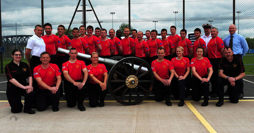 HMS Drake Field Gun Training