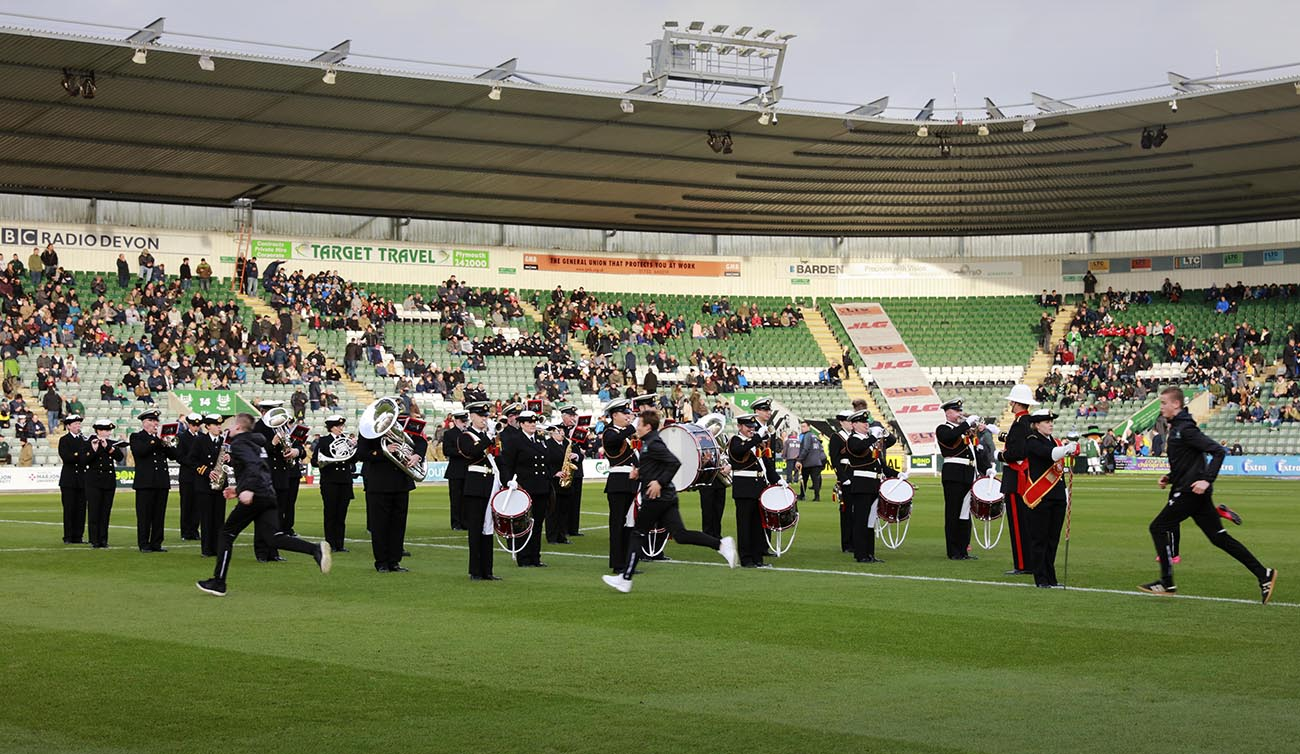 Footballers kick-off Armed Services benefit match