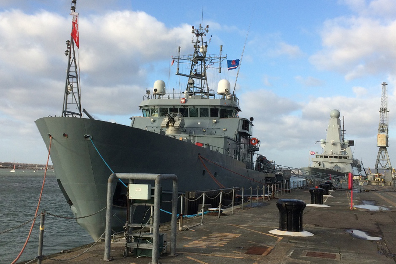 Poland's newest warship calls into Portsmouth