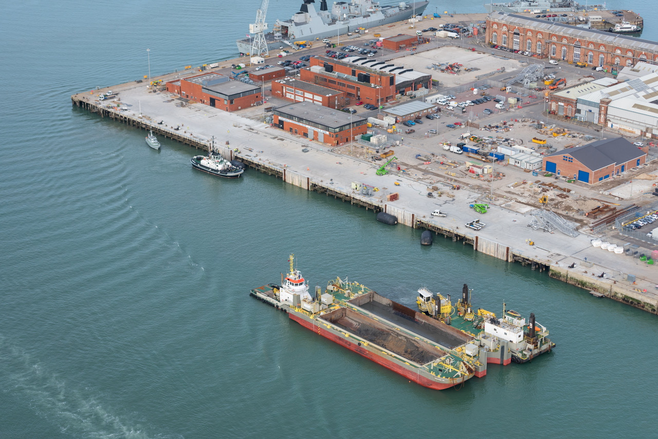 The Princess Royal jetty in Portsmouth Naval Base