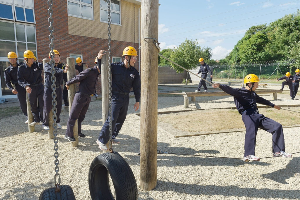 Japanese young officers impressed by navy training at HMS Collingwood and HMS Sultan