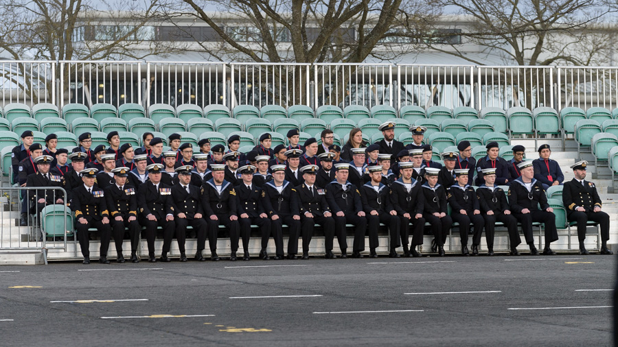Northwood Combined Cadet Force visit HMS Collingwood