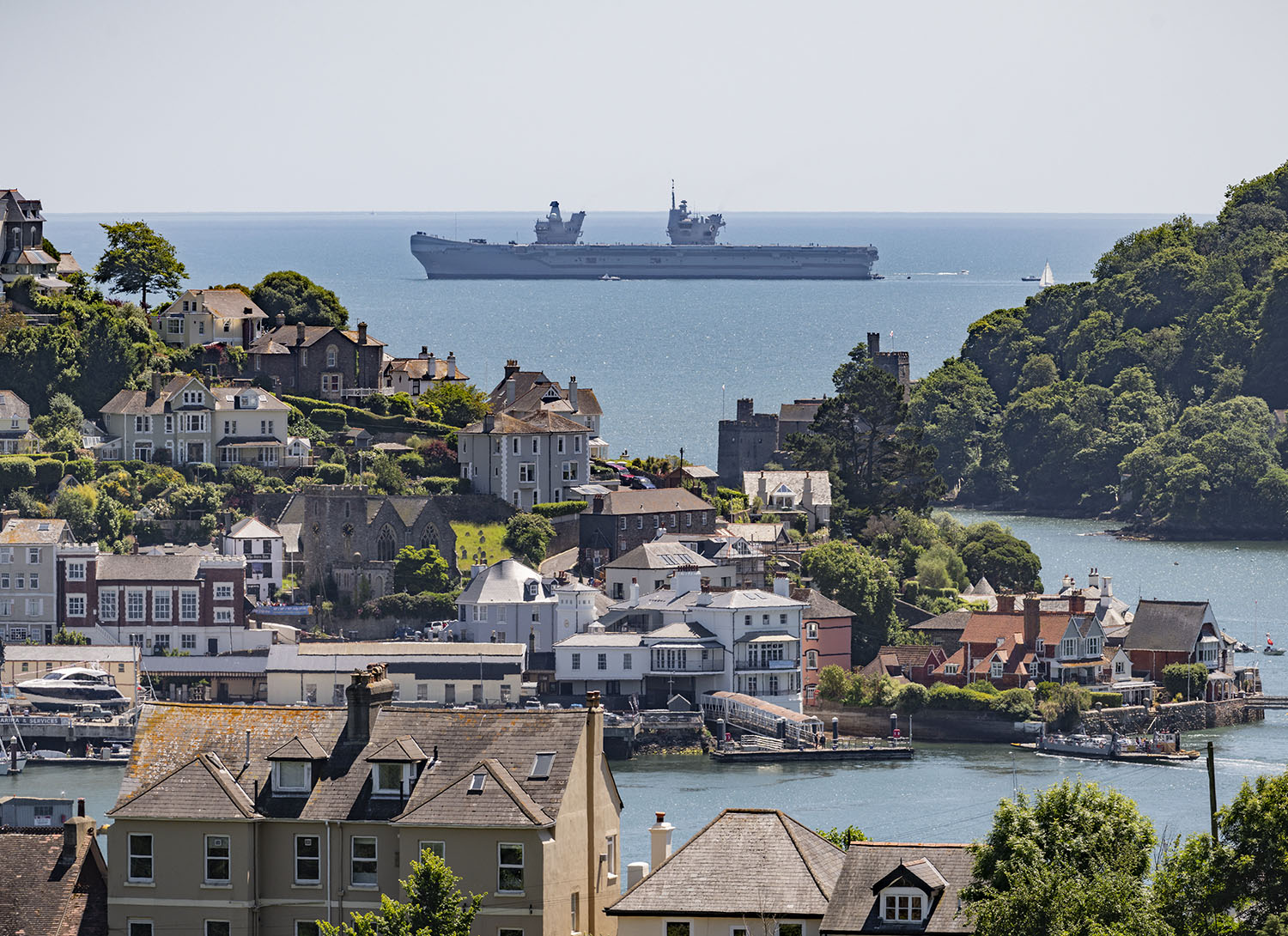 HMS Queen Elizabeth off Dartmouth