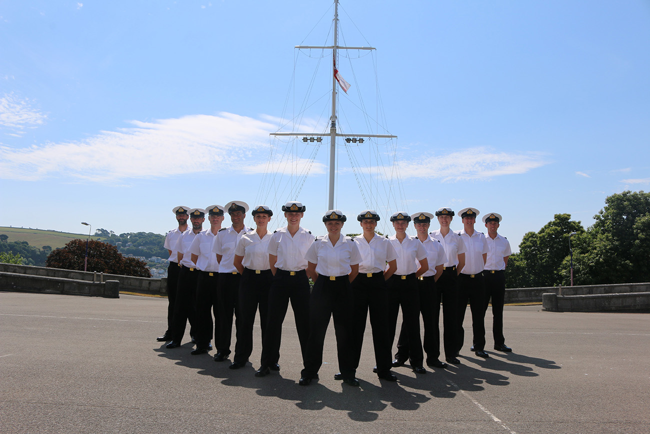 Reservists commission at Britannia Royal Naval College