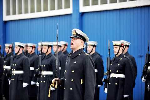 Navy trains for remembrance ceremonies