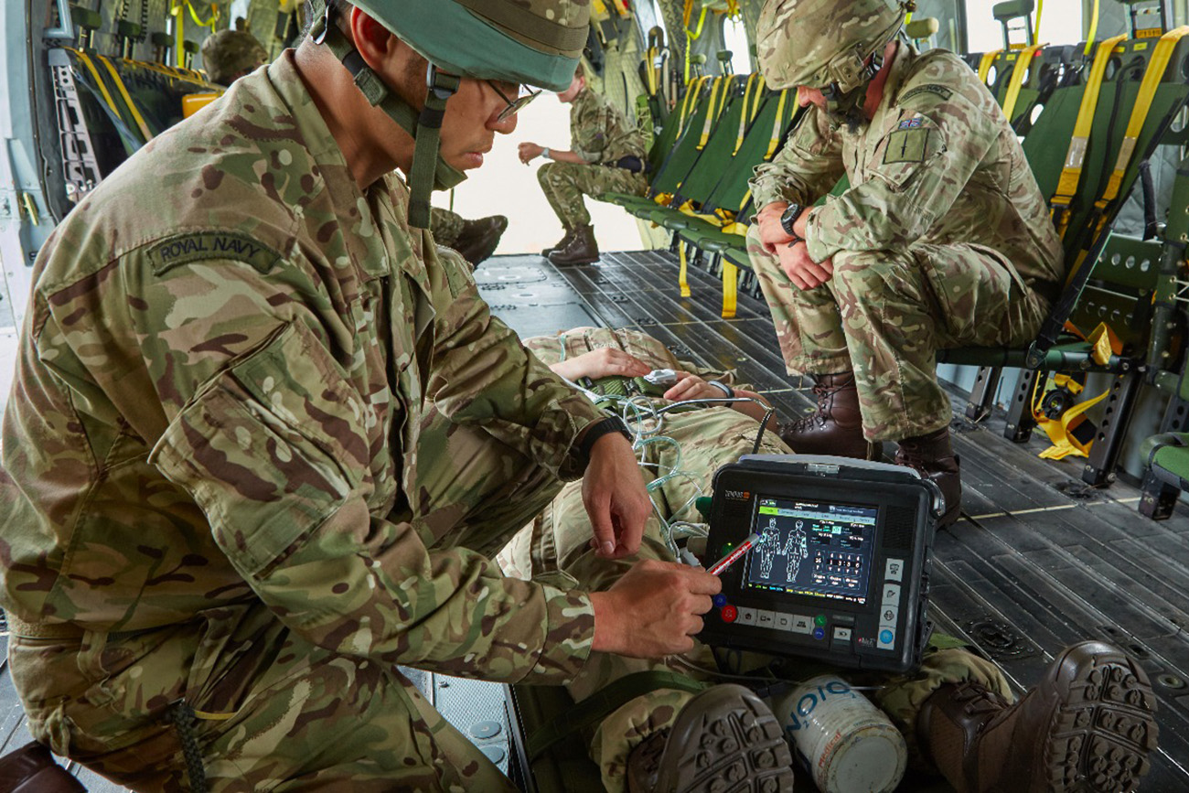 Navy medics recognised for hi-tech vital signs monitor