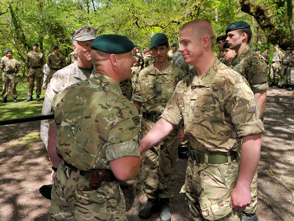 Dad joins son to complete Royal Marines gruelling training ...