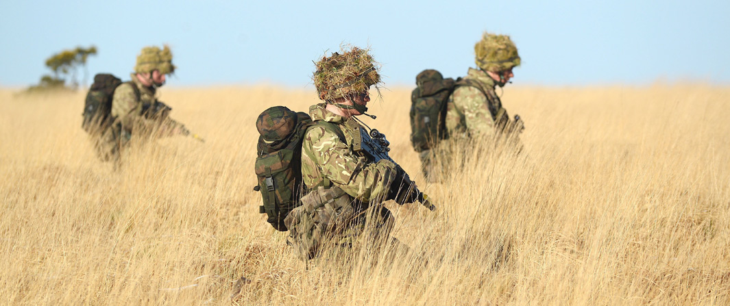 Reservists train through Dartmoor gales