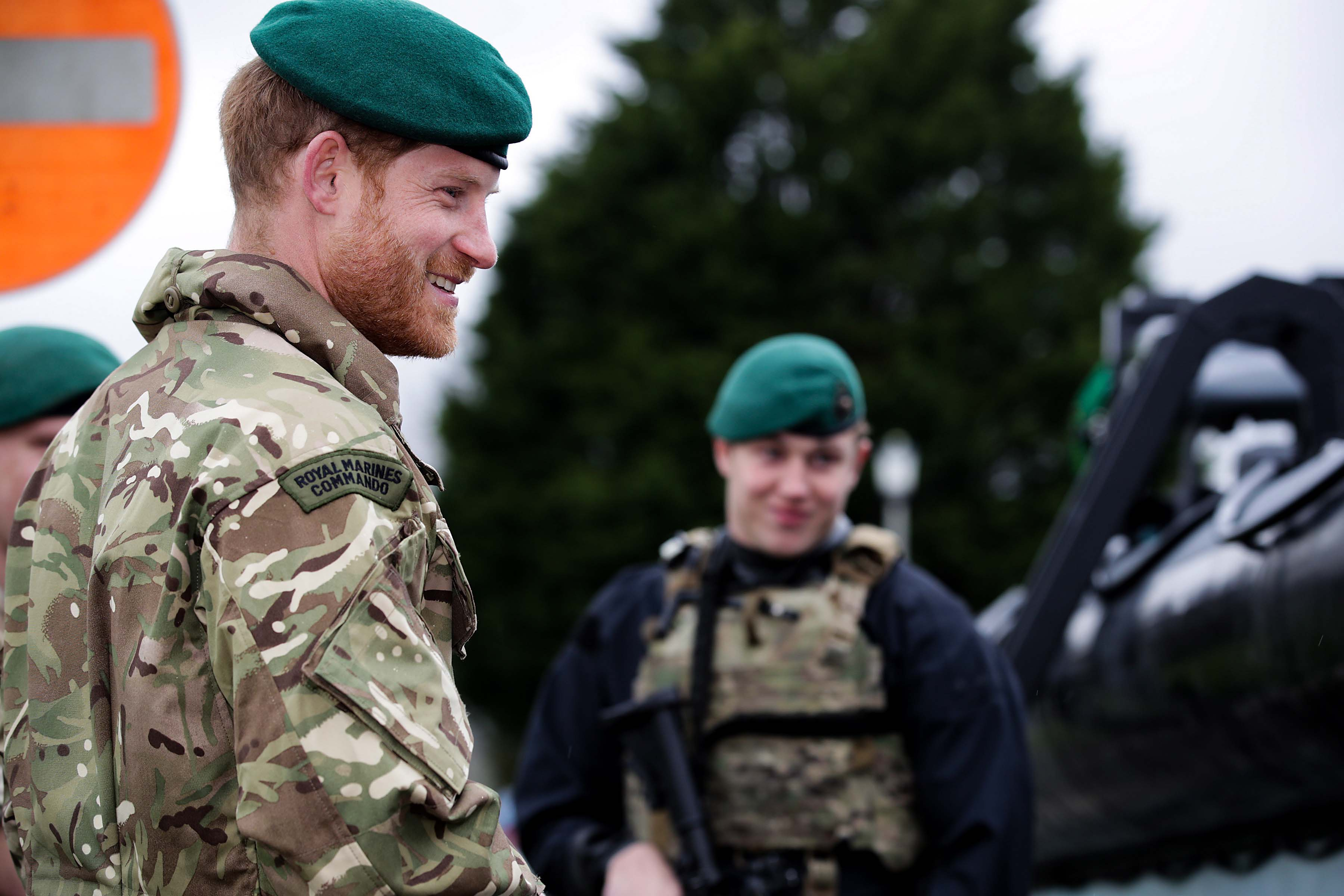 4d073ae4f4c10 The Duke of Sussex visited Royal Marines at the Commando Training Centre in  Lympstone